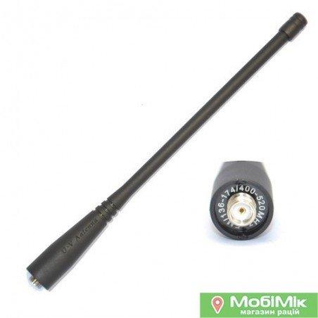 Антена для рацій Baofeng, Kenwood 2 діапазону VHF (136-174 МГц) і UHF (400-520 МГц)