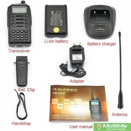 Quansheng TG-UV-2 рация купить дешево в Украине в интернет-магазине раций | http://mobimik.com.ua