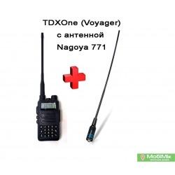 Рация TDX UV-Q7s Водонепроницаемая      5 Ватт + усиленная антенна Nagoya , VHF (136—174 МГц) и UHF (400-520 МГц)  IP66