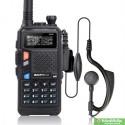 Рация Baofeng UV 5X 5 Ватт c гарнитурой. VHF (136—174 МГц) и UHF (400-520 МГц) mobimik