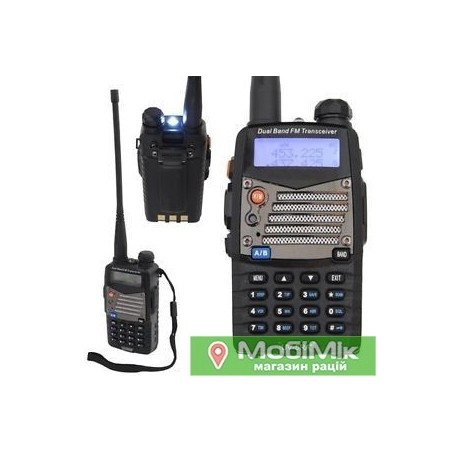 Радиостанция Baofeng UV-5RA+ | UV-5RB | UV-5 RE plus c гарнитурой