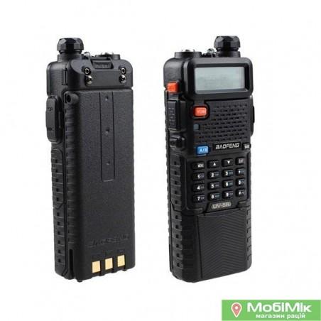 Рация Baofeng UV-5R с гарнитурой + усиленный аккумулятор BL-5L