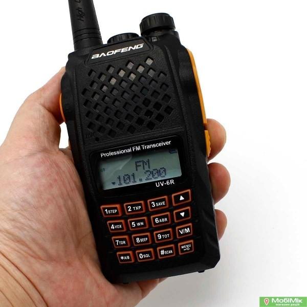 Baofeng UV-6R      5 Ватт рация c гарнитурой, VHF (136—174 МГц) и UHF (400-520 МГц) | Pofung