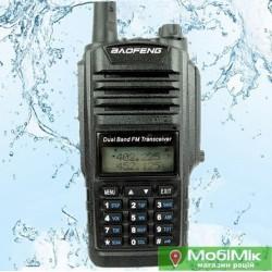 Рация Baofeng BF A58 водонепроницаемая 5 Ватт c гарнитурой. VHF (136—174 МГц) и UHF (400-520 МГц)