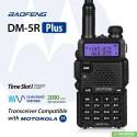 Цифровая рация Baofeng DM-5R Plus стандарт DMR Tier II 5 Ватт c гарнитурой. VHF (136—174 МГц) и UHF (400-480 МГц)