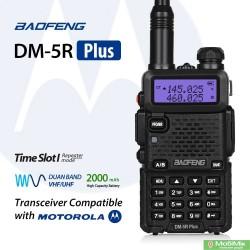 Цифрова рація Baofeng DM-5R Plus           стандарт DMR Tier II 5 Ватт з гарнітурою VHF (136—174 МГц) и UHF (400-480 МГц)