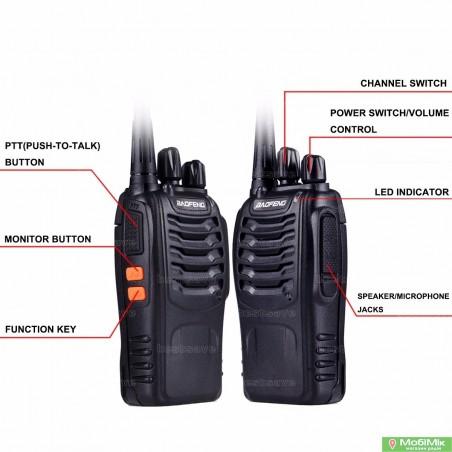 Комплект. 2 Рации Baofeng BF-888s UHF Частота: 400 - 520 МГц