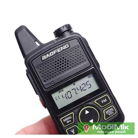 Рація Baofeng BF-T1 мініатюрна Частоти: 400 - 470 МГц