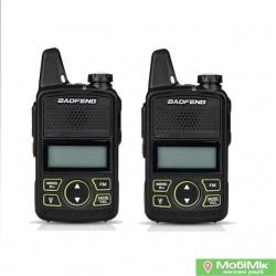 Комплект. 2 Рации Baofeng BF-T1 ультракомпактные Частоты: 400 - 470 МГц UHF