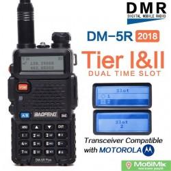 Цифровая рация Baofeng DM-5R PRO стандарт DMR Tier II 5 Ватт c гарнитурой. VHF (136—174 МГц) и UHF (400-480 МГц)