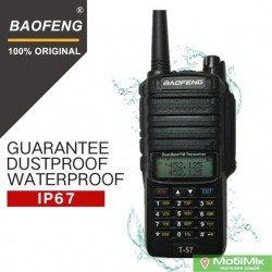Рация Baofeng BF T57 водонепроницаемая 5 Ватт c гарнитурой. VHF (136—174 МГц) и UHF (400-520 МГц)