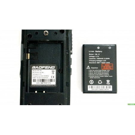 Рація Baofeng BF-R5 / T7 з гарнітурою Частоти 400-470 МГц