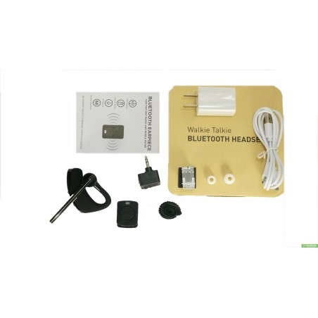 Bluetooth гарнітура AD-01 із зарядним та кліпсою для рацій Baofeng