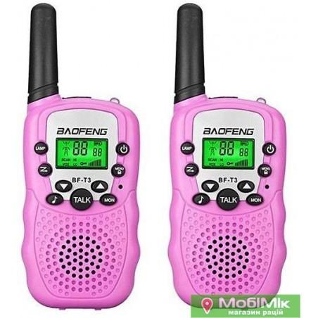 Комплект 2 рации Baofeng BF T3 розовый цвет