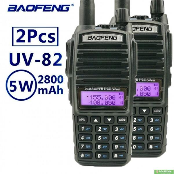 Купить Комплект 2 Рации BAOFENG UV-82 5 ватт dualband диапазоны VHF/UHF