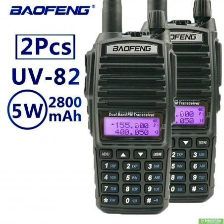 Комплект 2 Рации BAOFENG UV-82 5 ватт dualband диапазоны VHF/UHF