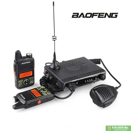Автокомплект Baofeng Mini One 2 рації плюс базова станція Baofeng UHF 400-420MHz/450-470MHz
