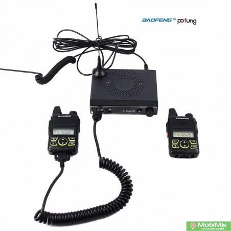 Автокомплект Baofeng Mini One 2 рации плюс базовая станция Baofeng UHF 400-420MHz/450-470MHz