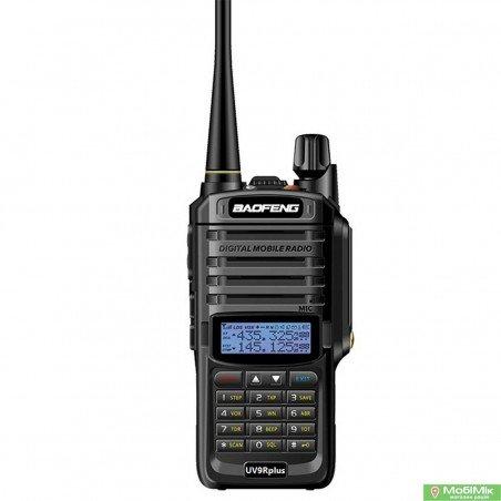 Рація Baofeng UV-9R Plus з гарнітурою  діапазони VHF/UHF Dual-Band 136-174/400-520MHz 2-PTT 5W Two Way Radio