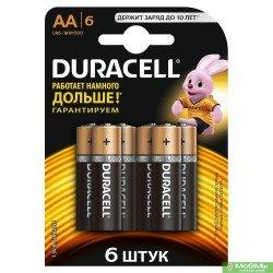 Батарейки DURACELL Basic AA 1.5V LR6 6шт