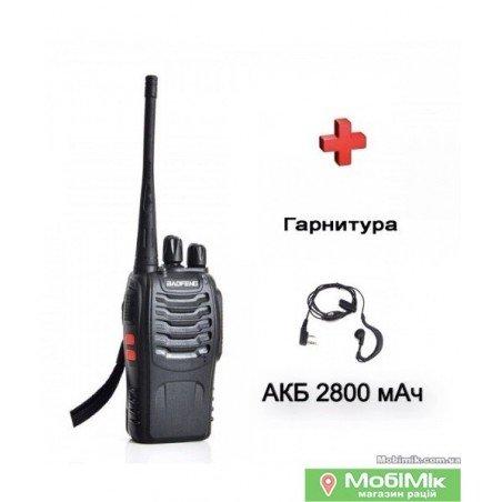 Рация Baofeng BF-888s+ с усиленным аккумулятором с гарнитурой UHF Частота: 400 - 520 МГц