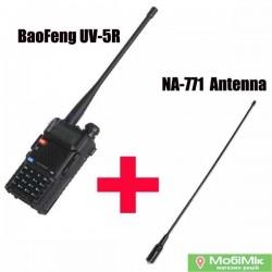 Комплект. Рация Baofeng UV-5R + антенна Nagoya NA-771